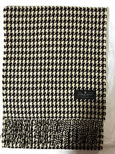 Мужской однотонный классический  тёплый шарф коричневый с бежевым