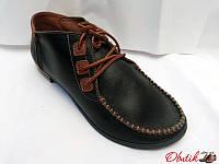Туфли женские закрытые черные, бежевые, синие кожаные Uk0069