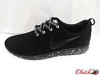 Кроссовки женские Nike замша черные NI0028