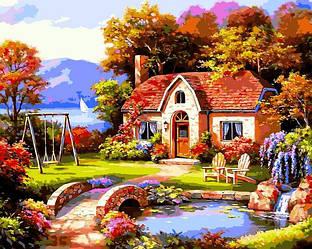 Картина по номерам Пейзаж Сказочный домик 40х50см Babylon Turbo
