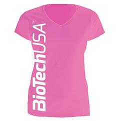 Cпортивная футболка женская Biotech Women's T-Shirt (размер S) розовая