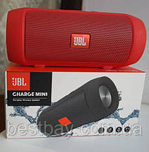 Портативна блютуз колонка JBL Charge 3 MINI колонка з USB,SD,FM ЧОРНА, фото 2