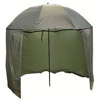 Парасоля Carp Zoom Umbrella Shleter, 250 див. (парасоля-намет, зелена, 3,2 кг)