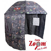 Парасоля Carp Zoom Umbrella Shleter, camou 250 см. (парасоля-палатка, камуфльована 3кг.)
