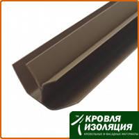 Пластиковый угол внутренний шоколад (6м)