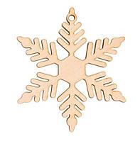 Заготовка для декора Снежинка 9 ,фанера,Д:8см,Rosa Talent 4801519