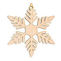 """Заготівля для декору """"Сніжинка 9"""",фанера,Д:8см,Rosa Talent 4801519"""