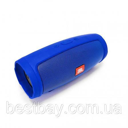 Портативная блютуз колонка JBL Charge 3 MINI колонка с USB,SD,FM СИНЯЯ, фото 2