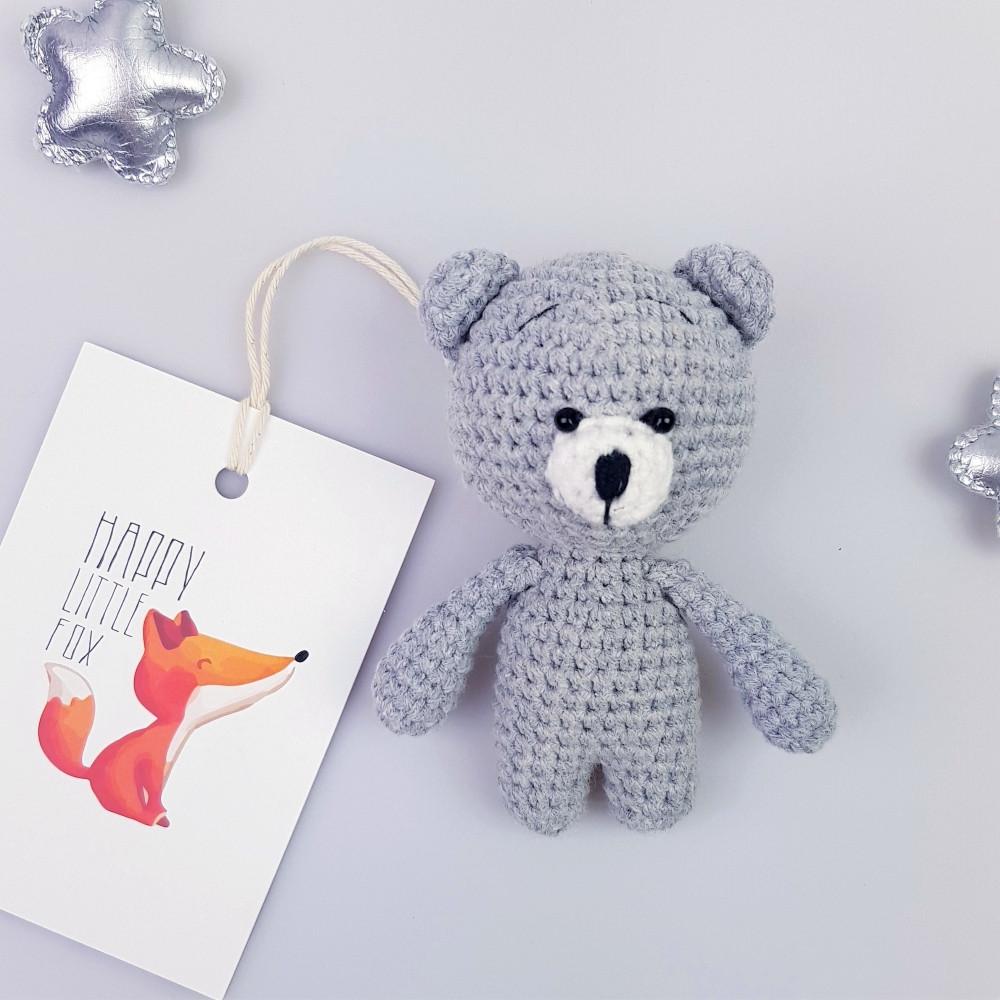 Медвежонок игрушка мягкая Серый (400013)