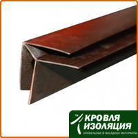 Пластиковый угол наружный шоколад (6м)