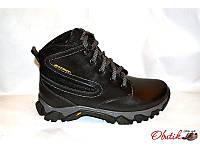 Ботинки подростковые-детские зимние кожаные Украина на шнуровке Uk0084
