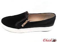 Туфли-слипоны, мокасины женские Oog замша кожа Oog0019