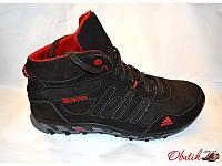 Кроссовки мужские высокие зимние Adidas кожаные AD0016
