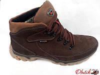 Ботинки мужские зимние Ecco нубук коричневые E0006