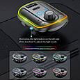 Стерео блютуз ФМ модулятор + AUX out + Громкая связь + Зарядное USB + Type C + microSD + Вольтметр + RGB, фото 6