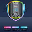 Стерео блютуз ФМ модулятор + AUX out + Громкая связь + Зарядное USB + Type C + microSD + Вольтметр + RGB, фото 7