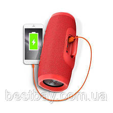 Портативная блютуз колонка JBL Charge 3 колонка с USB,SD,FM КРАСНАЯ, фото 2