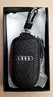 Оригинальный брелок ключница на ключи авто марка Audi эко кожа