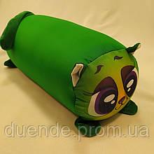 Подушка игрушка валик Котик бифлекс антистресс, полистерольные шарики, размер 35*20 см / tp - 171001\2