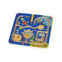 Настольная игра Goki Магнитный лабиринт. Космос 53817G, КОД: 1884516
