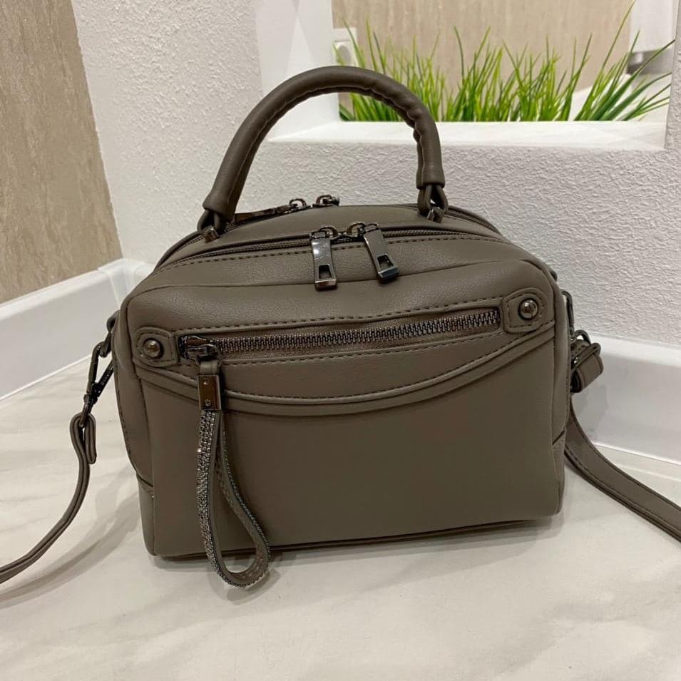 Женская сумка на 2 отделения Karlos Marconi хаки КМ33