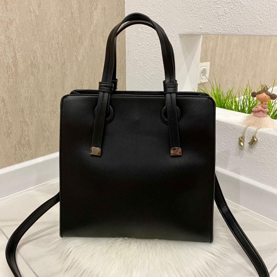 Женская сумка-тоут Karlos Marconi Pafos черная КМП55