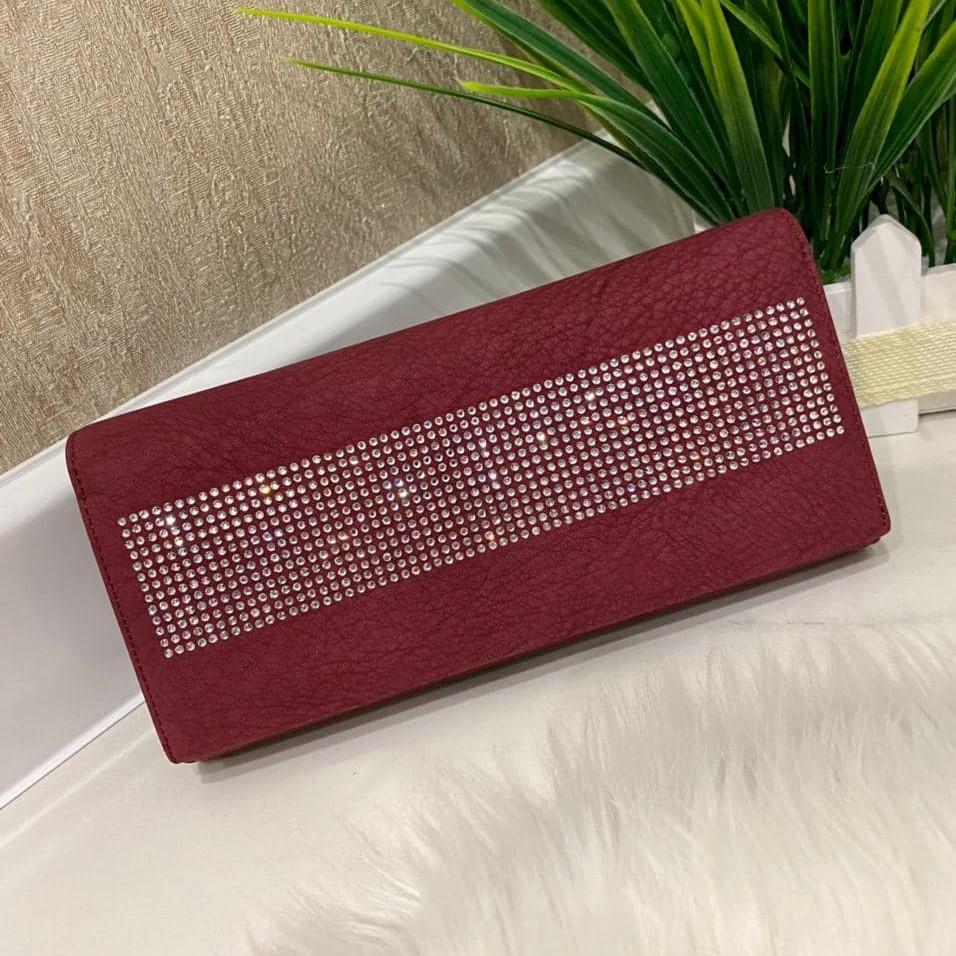 Женский кошелек на магнитах Brill бордовый КБ323