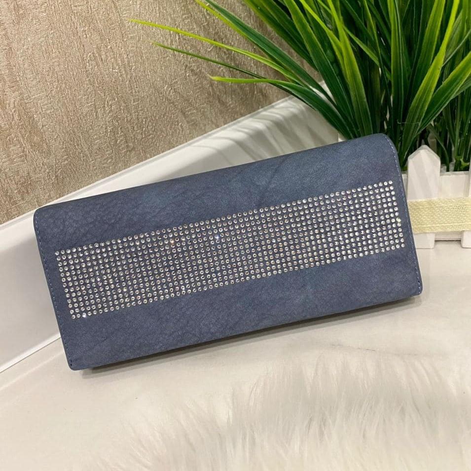 Женский кошелек на магнитах Brill голубой КБ324