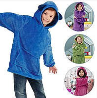 Детская толстовка-халат плед трансформер с капюшоном и рукавами Huggle Pets Hoodie