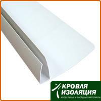 Пластиковая F-полоса (широкая) стартовая белая (6м)