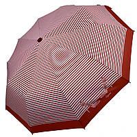 Женский зонт-полуавтомат в полоску, с принтом туфелек, Calm Rain, красный, 220-4, фото 1