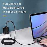 Оригинальный кабель Baseus USB Type-C - Type-C PD Q.C 4 60w 5A Цвет Чёрный 1 метр Быстрая зарядка, фото 4