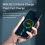 Оригинальный кабель Baseus USB Type-C - Type-C PD Q.C 4 60w 5A Цвет Чёрный 1 метр Быстрая зарядка, фото 5