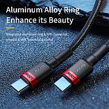 Оригинальный кабель Baseus USB Type-C - Type-C PD Q.C 4 60w 5A Цвет Чёрный 1 метр Быстрая зарядка, фото 6