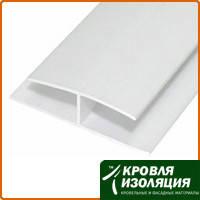Пластиковая полоса соединительная белая (8мм*6м)