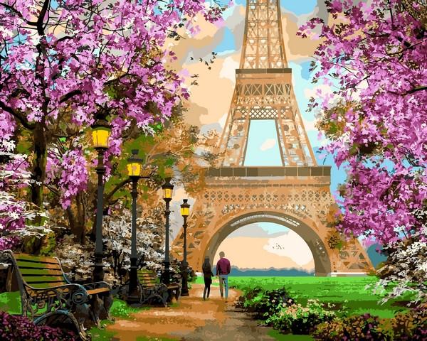 Картина по номерам Париж Прогулка по Парижу 40х50см Babylon Turbo