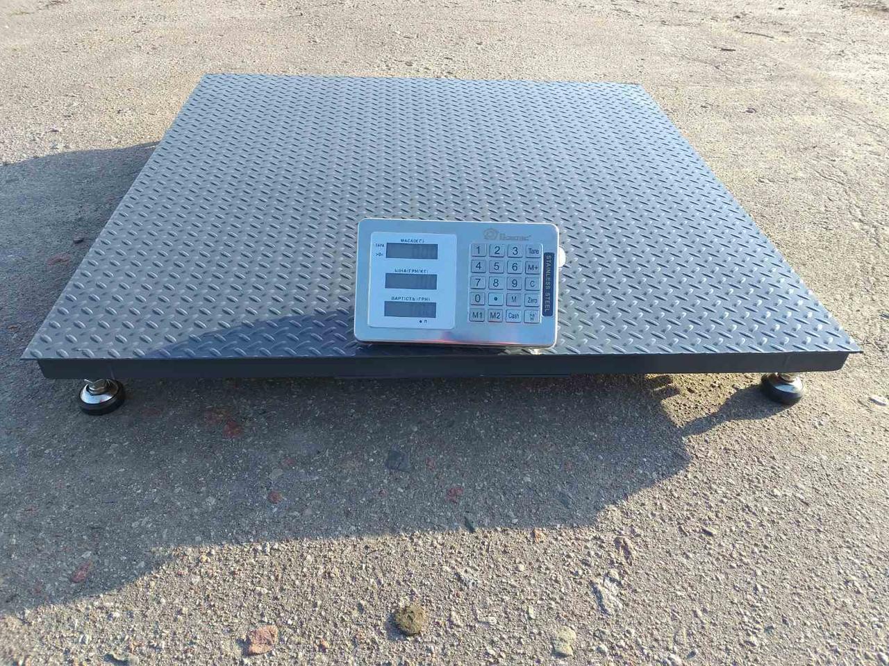 Платформенные весы серия «Бюджет» 1000 кг 1000х1000 мм