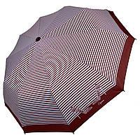 Женский зонт-полуавтомат в полоску, с принтом туфелек, Calm Rain, бордовый, 220-6, фото 1
