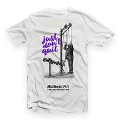 Cпортивная футболка Biotech T-shirt Just dont quit white (размер L) серая