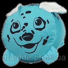 Подушка валик детская Зоо антистрессовая, полистерольные шарики, размер 38*18 см / tp - 12асв03ив Собачка