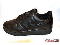 Кроссовки женские Nike Air кожаные черные NI0039
