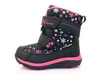 Детская зимняя обувь термо-ботинки B&G для девочки