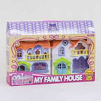 Домик кукольный 8203-3 (24/2) свет, звук, 4 игровые фигурки, в коробке