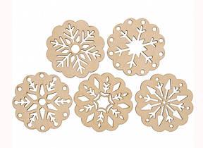 """Заготівля для декорування з фанери """"Сніжинка 4"""" Rosa Talent,Д:10 см 4801514"""