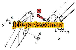 Палец крепления рукояти к стреле 811/90419 для JCB JS330