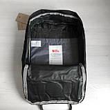 Молодежный женский рюкзак сумка канкен 16 литров Fjallraven Kanken No.2 черный с черными ручками, фото 9