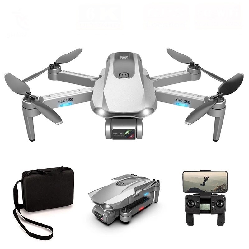 Квадрокоптер K60 Pro GPS камера 4К 5G дистанция  1км полет 23 мин