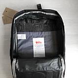 Молодежный женский рюкзак сумка канкен 16 литров Fjallraven Kanken No.2 черный с черными ручками, фото 10