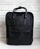 Молодежный женский рюкзак сумка канкен 16 литров Fjallraven Kanken No.2 черный с черными ручками, фото 3
