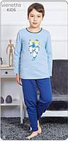 Пижама детская с принтом пингвинов для мальчиков 3-8 лет